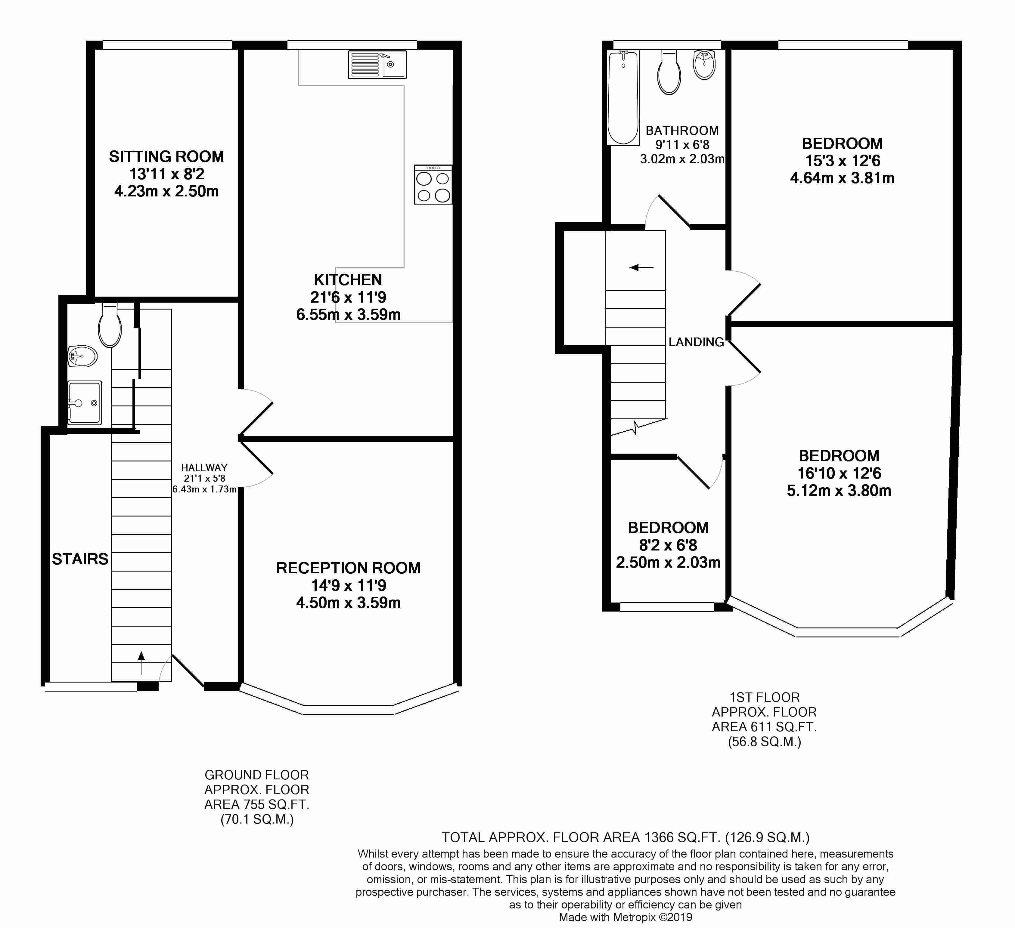 Floorplans For St Johns Road, Wembley, Middlesex