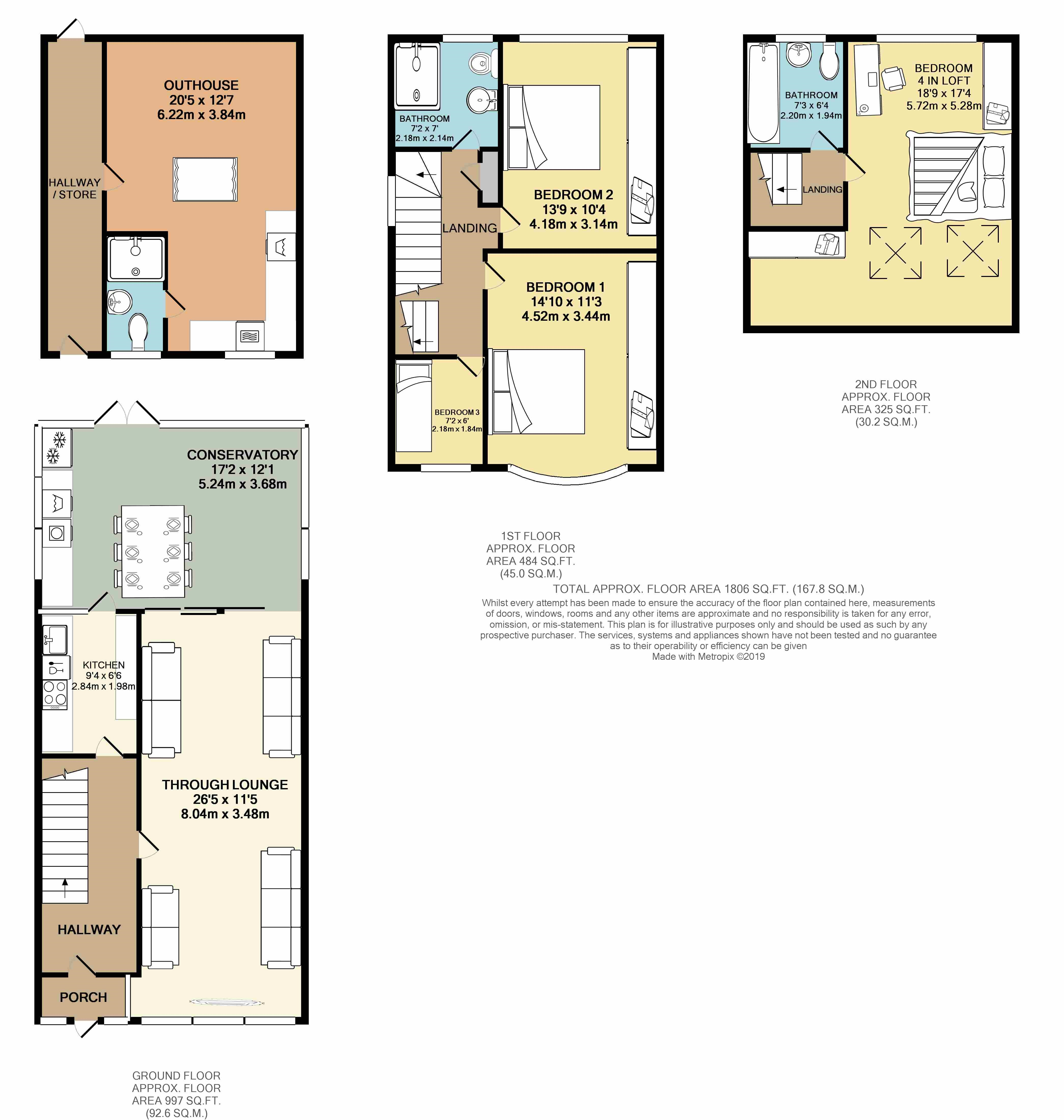 Floorplans For Belmont Avenue, Wembley, Middlesex,HA0 4HN