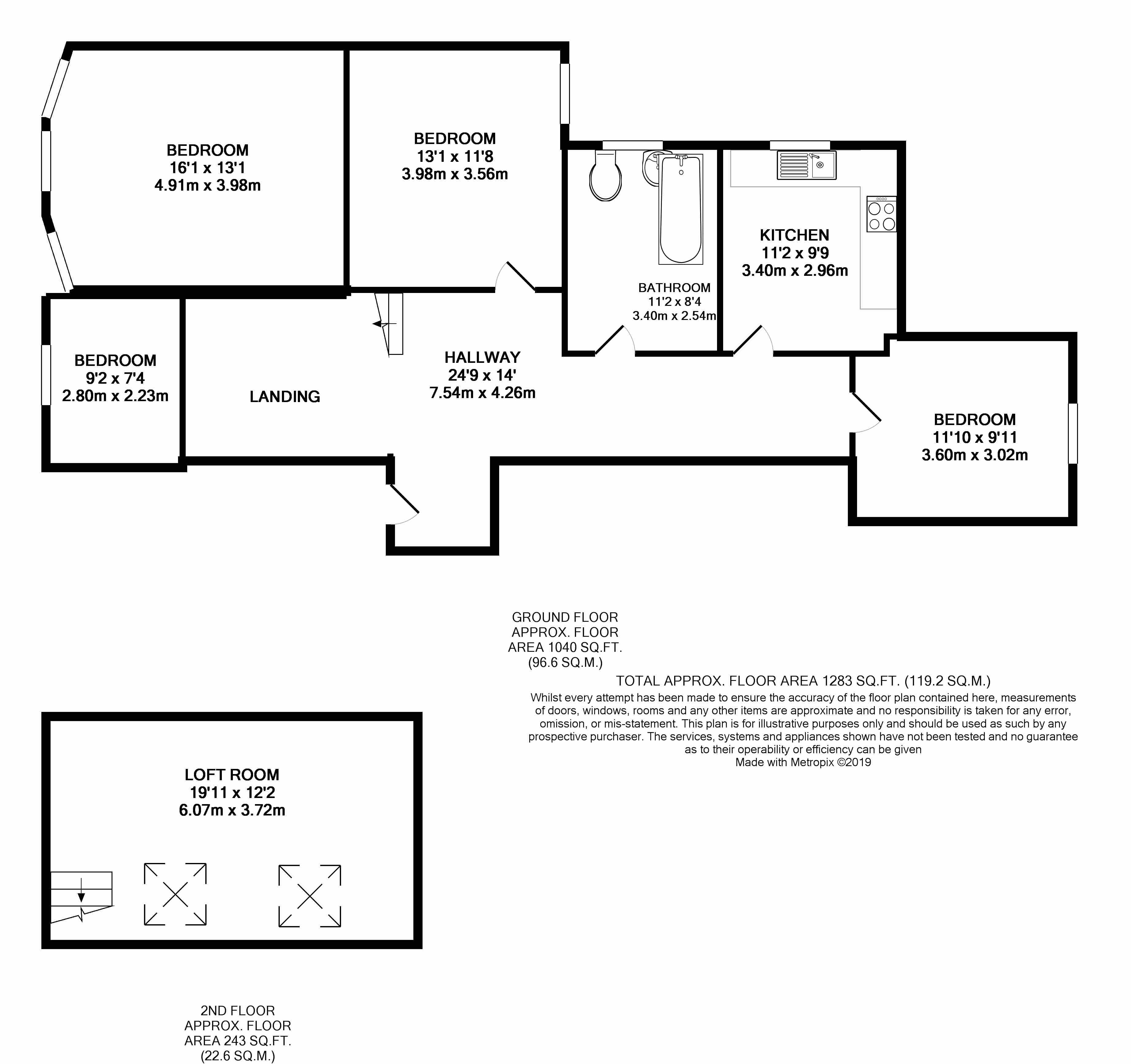 Floorplans For Tunley Road, Willesden, London,NW10 9JS