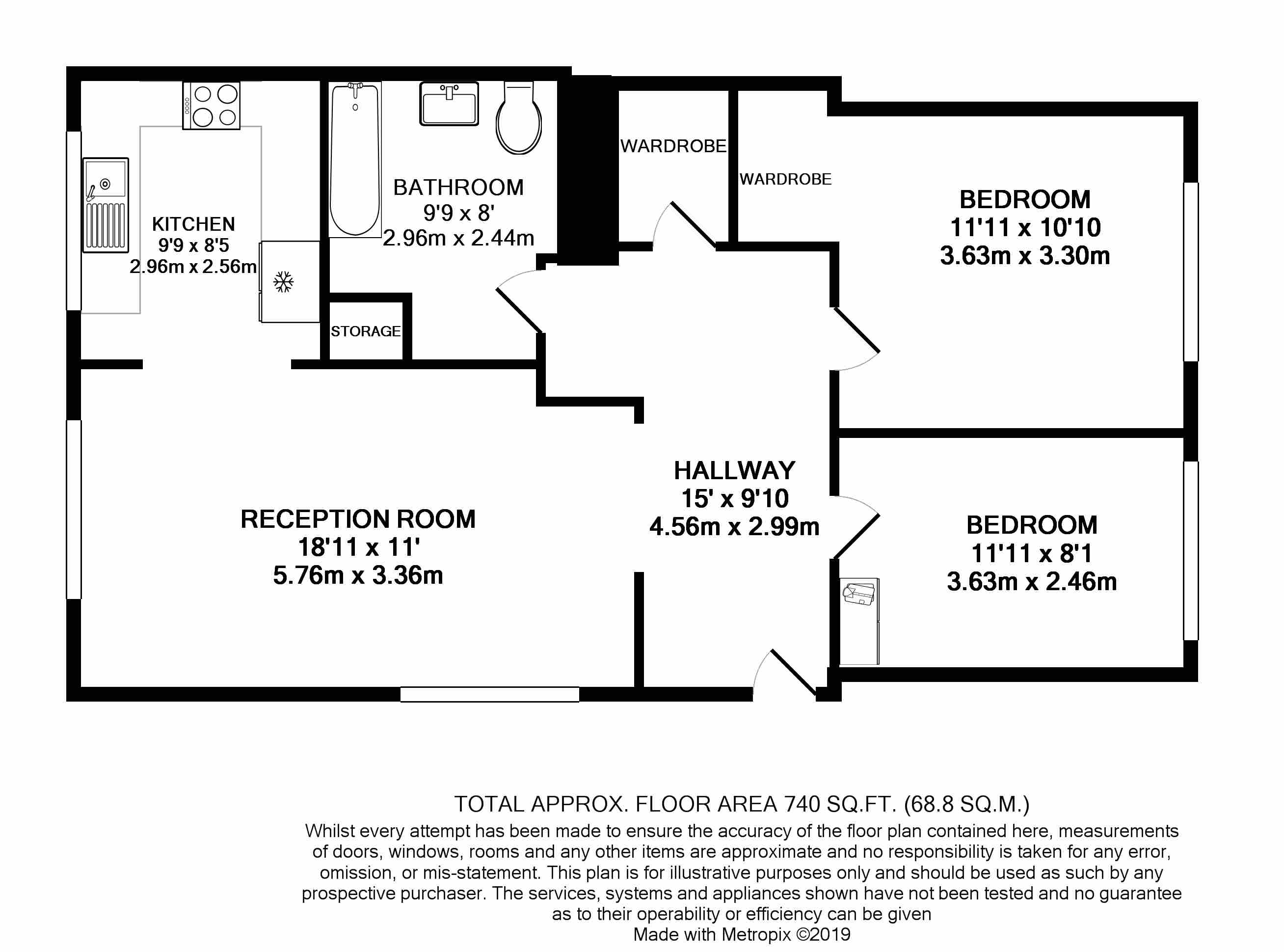 Floorplans For Conifer Way, Wembley, Middlesex,HA0 3QR