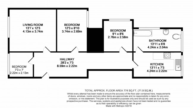 Floorplan for Deacon Road, London,nw2 5qh