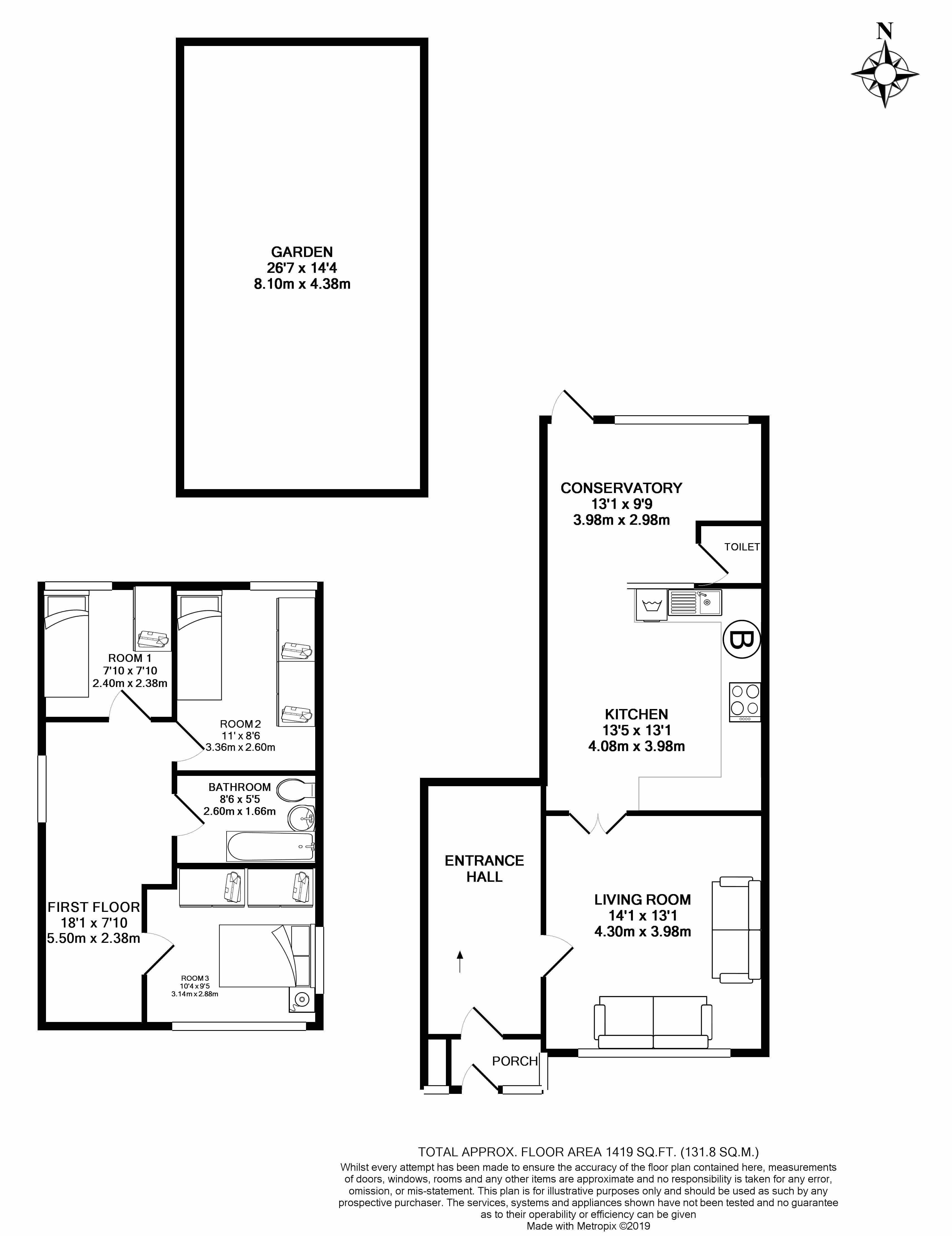 Floorplans For Abbots Drive, South Harrow,HA2 0RE