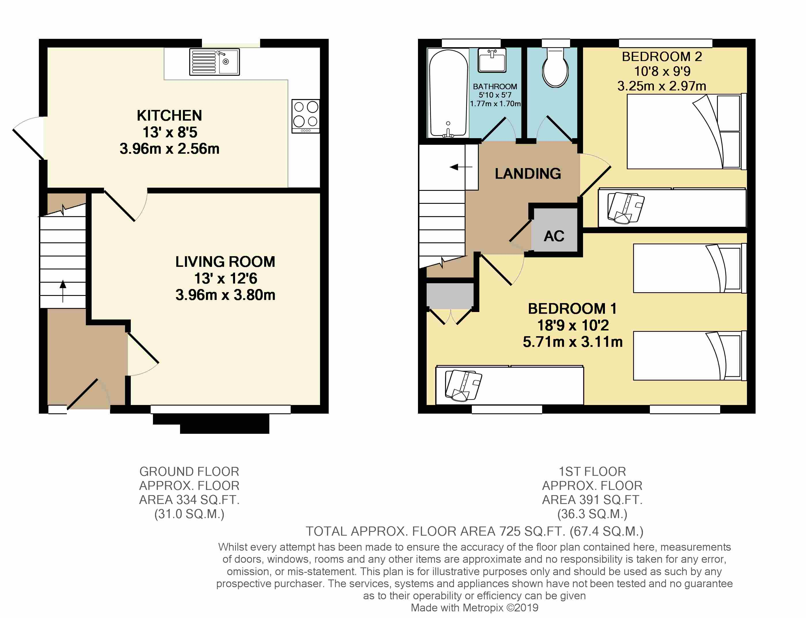 Floorplans For Carmelite Close, Harrow, Middlesex, HA3 5NL