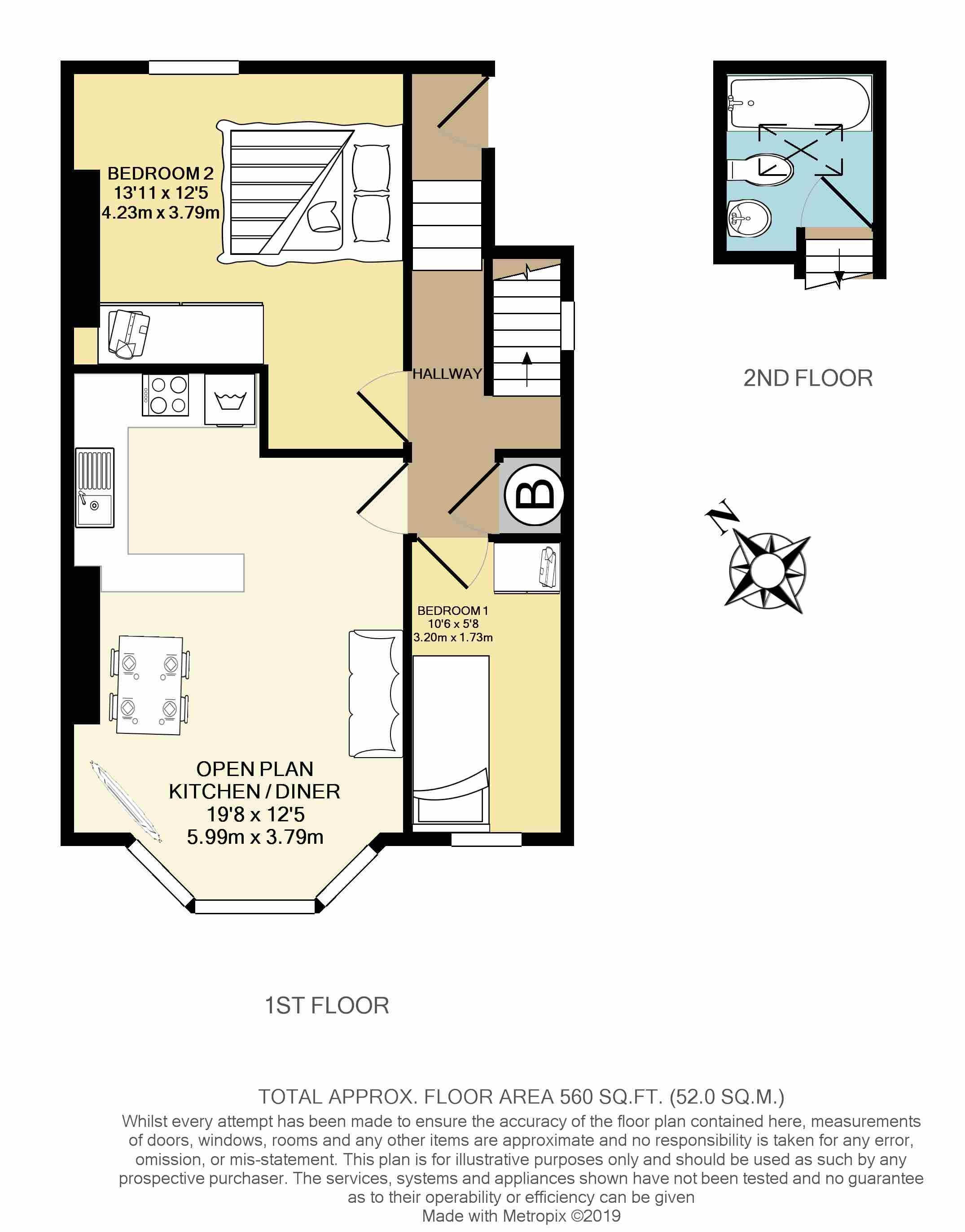 Floorplans For Sellons Avenue, London,NW10 4HH