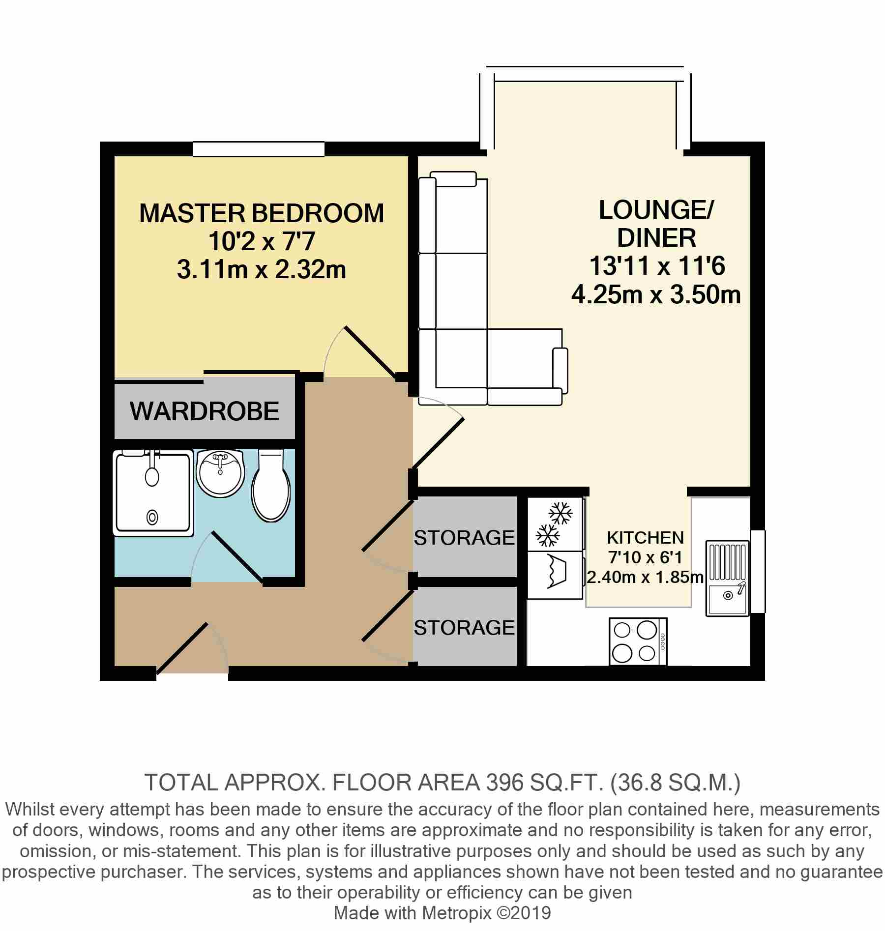 Floorplans For Conifer Way, Wembley, HA0 3QR