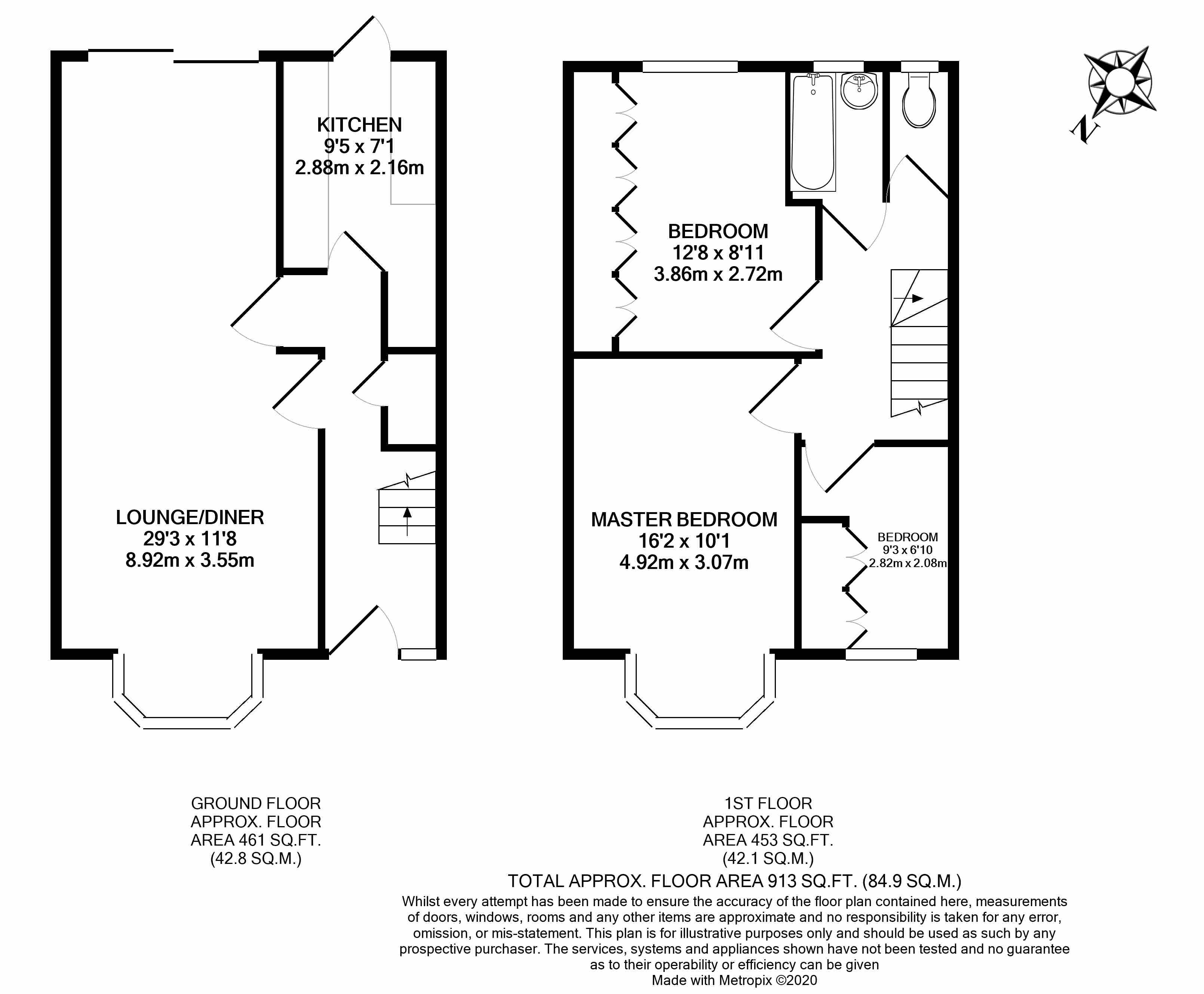 Floorplans For Beatrice Avenue, Wembley, HA9 7EH