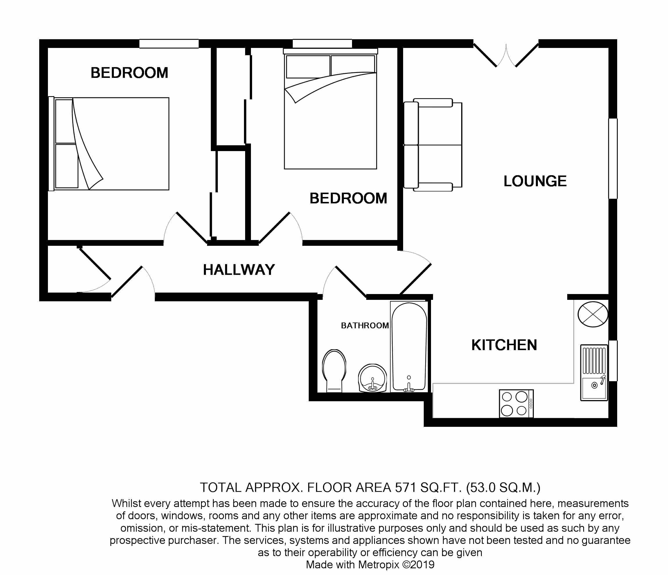 Floorplans For Oakhanger House, Cecil Manning Close, Perivale, UB6 7FF