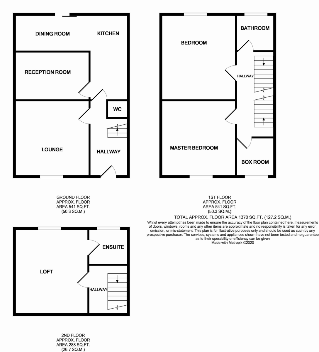 Floorplans For Spinnells Road, Harrow