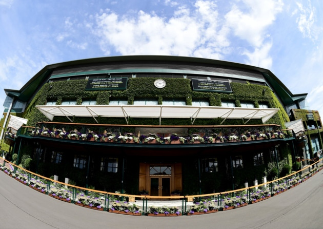 Shoppers at the London Designer Outlet in Wembley can watch Wimbledon 2015 on big screens