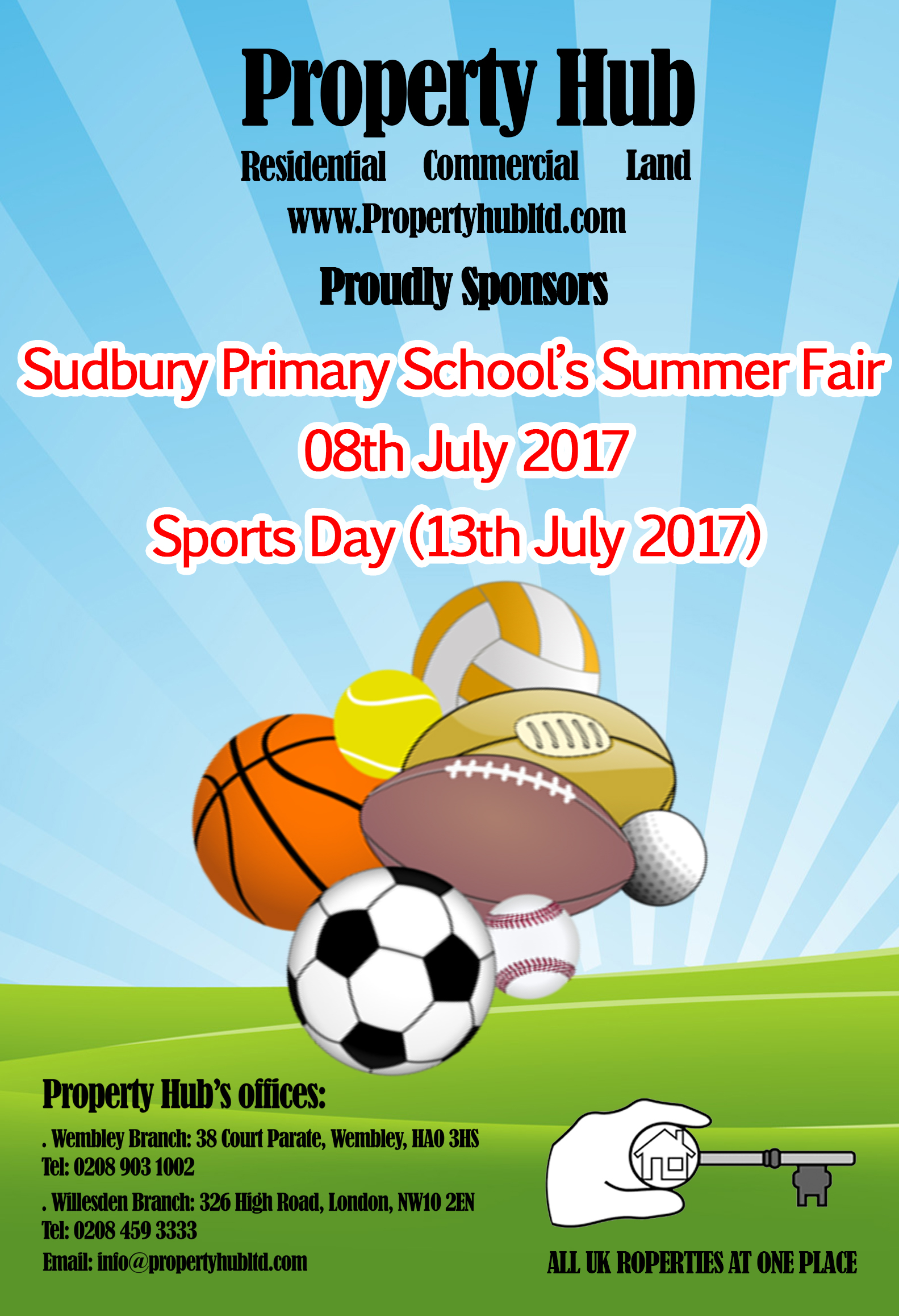 Sudbury Primary School Summer Fair and Sports day 2017