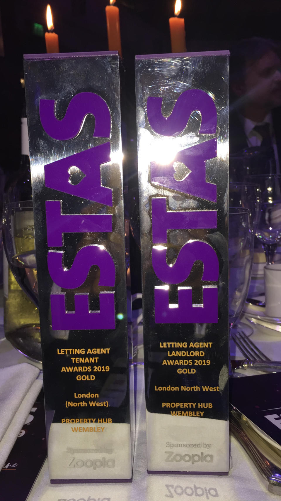 WINNERS OF ESTAS AWARD - LANDLORD & TENANT