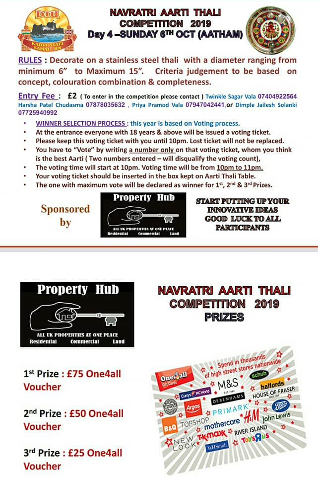 PROPERTY HUB IS PROUD TO SPONSOR DKNS-UK NAVRATRI 2019