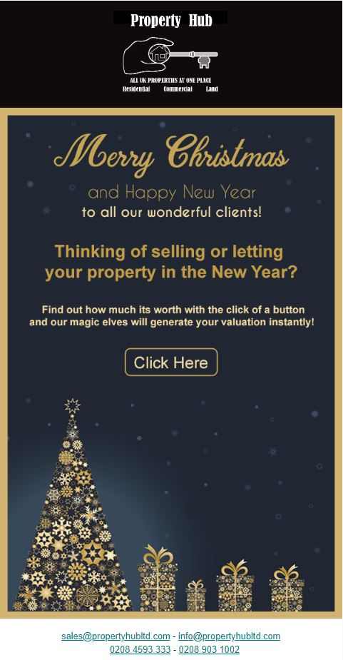 From Property Hub-Team would like to Wish all our clients an early Merry Christmas